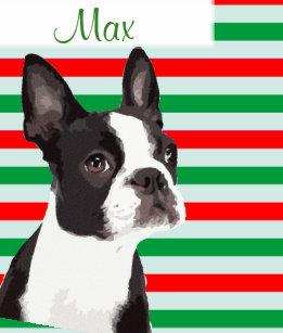 boston terrier christmas pet stocking - Boston Terrier Christmas