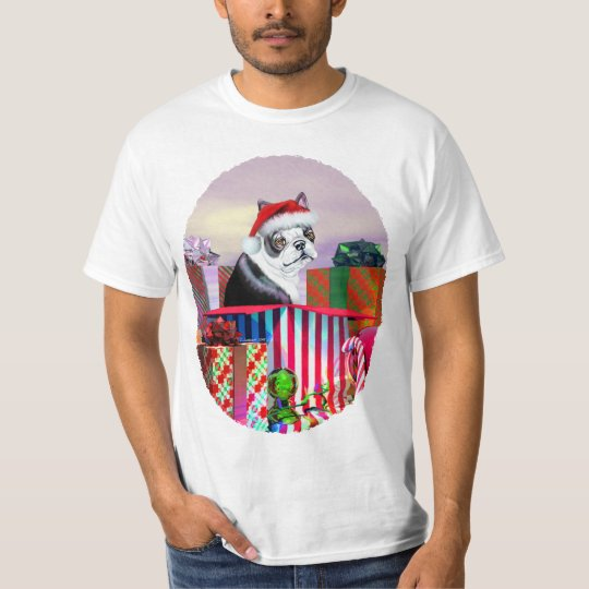 Boston Terrier Christmas Surprise T-Shirt