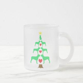 Boston Terrier Christmas Tree Mug
