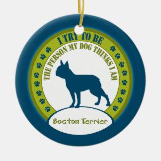 Boston Terrier Christmas Tree Ornaments