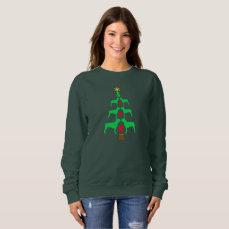 Boston Terrier Christmas Tree Sweatshirt