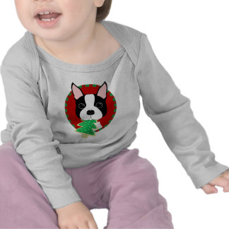 Boston Terrier Christmas Tshirt