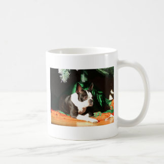 Boston Terrier Christmas with Piper Mugs