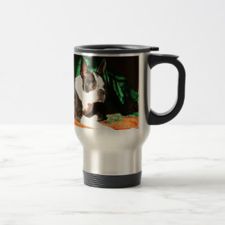 Boston Terrier Christmas with Piper Coffee Mugs