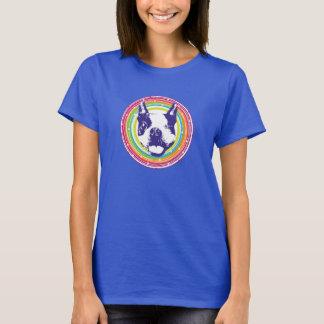 Boston Terrier - círculos coloridos Playera