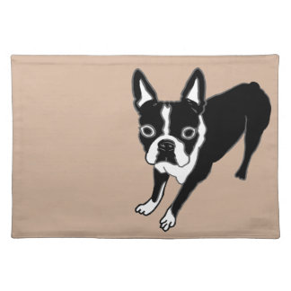 Boston Terrier Cloth Placemat