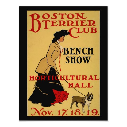 Boston Terrier Club Card