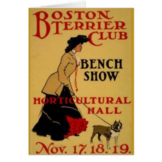 Boston Terrier Club Card