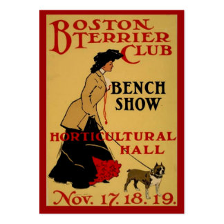 Boston Terrier Club Large Business Card