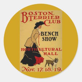 Boston Terrier Club Classic Round Sticker