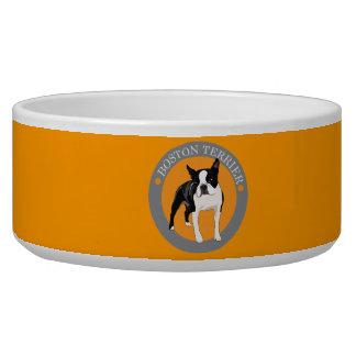 Boston Terrier Comedero Para Mascota