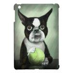 Boston Terrier con la pelota de tenis iPad Mini Carcasa