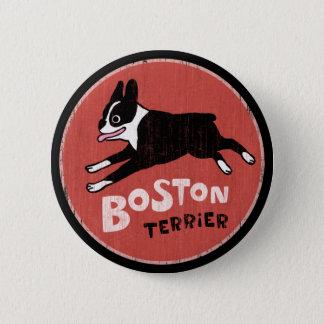 Boston Terrier Cool Retro Style Pinback Button