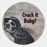 Boston Terrier:  Crack it, Baby! Stickers