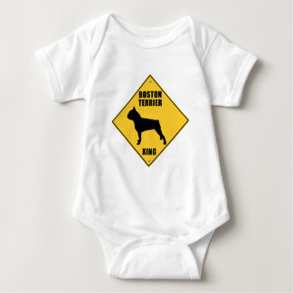 Boston Terrier Crossing (XING) Sign Baby Bodysuit