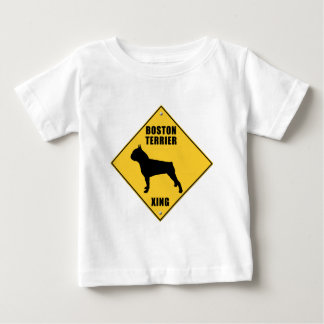 Boston Terrier Crossing (XING) Sign Baby T-Shirt