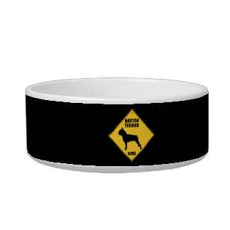 Boston Terrier Crossing (XING) Sign Bowl