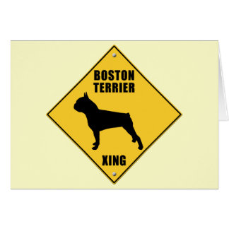 Boston Terrier Crossing (XING) Sign Card