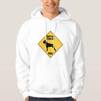 Boston Terrier Crossing (XING) Sign Hoodie