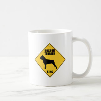 Boston Terrier Crossing (XING) Sign Coffee Mug