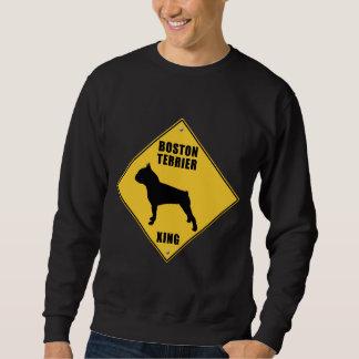 Boston Terrier Crossing (XING) Sign Sweatshirt