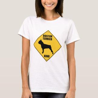 Boston Terrier Crossing (XING) Sign T-Shirt