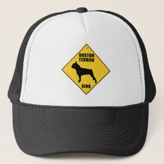 Boston Terrier Crossing (XING) Sign Trucker Hat