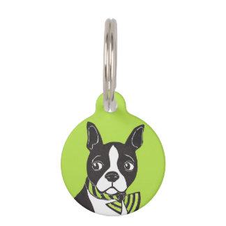 Boston Terrier Custom Round Pet Tag Pet Name Tag