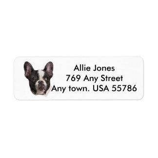 Boston Terrier Customized Label