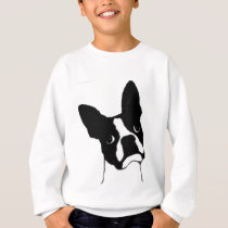 Boston Terrier- cute face Sweatshirt
