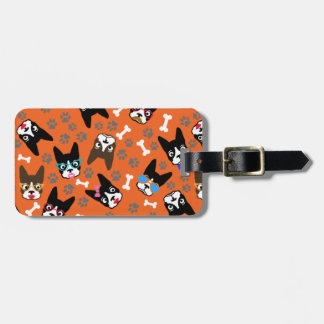 Boston Terrier Cute Mustache Funny Faces Bag Tag