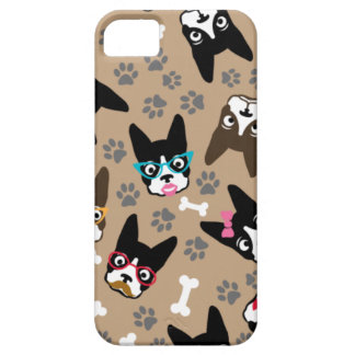 Boston Terrier Cute Mustache Funny Faces iPhone 5 Cover