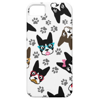 Boston Terrier Cute Mustache Funny Faces iPhone 5 Cases