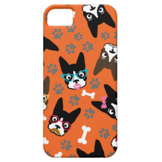 Boston Terrier Cute Mustache Funny Faces iPhone 5 Covers