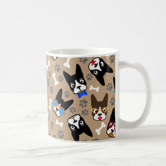 Boston Terrier Cute Mustache Funny Faces Coffee Mug