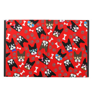Boston Terrier Cute Mustache Funny Faces iPad Air Cover