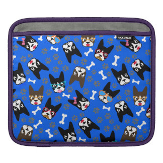 Boston Terrier Cute Mustache Funny Faces iPad Sleeves
