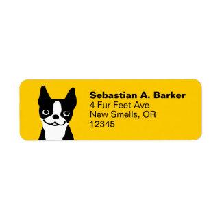 Boston Terrier - Cute Smiley Dog Label