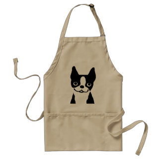 Boston Terrier - Cute Smiley Face Dog Adult Apron