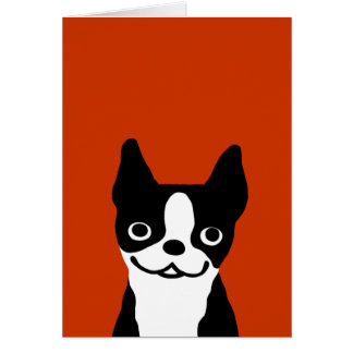 Boston Terrier - Cute Smiley Face Dog Greeting Cards