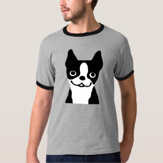 Boston Terrier - Cute Smiley Face Dog T-Shirt