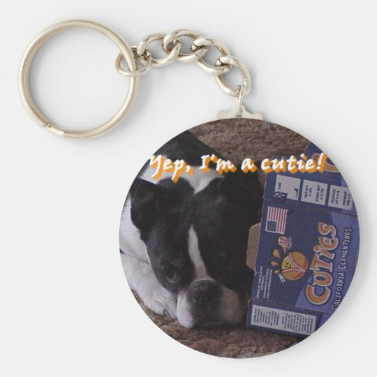Boston Terrier:  Cutie Keychain
