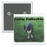 Boston Terrier:  Cutie Patootie Pinback Buttons
