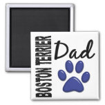 Boston Terrier Dad 2 2 Inch Square Magnet