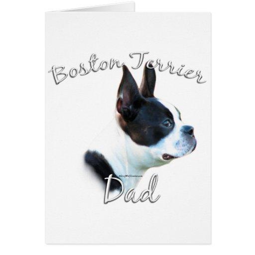 Boston Terrier Dad 2 Card