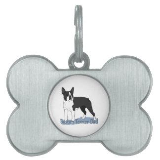 Boston Terrier Dad 2 Pet ID Tag