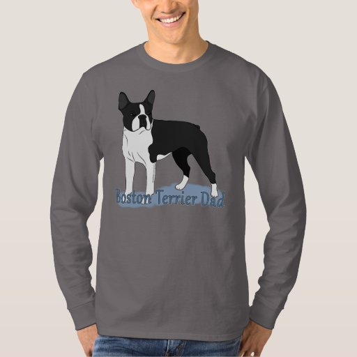 Boston terrier dad 2 t shirt zazzle for Boston rescue 2 t shirt