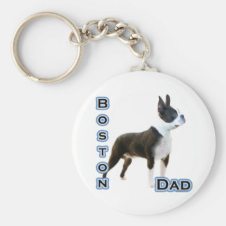 Boston Terrier Dad 4 - Keychain