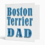 Boston Terrier Dad Binder