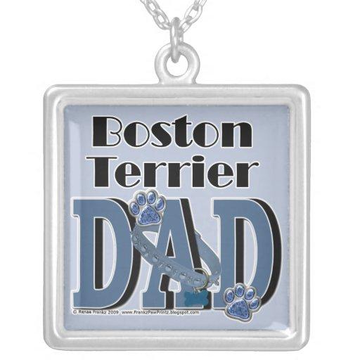 Boston Terrier DAD Necklace